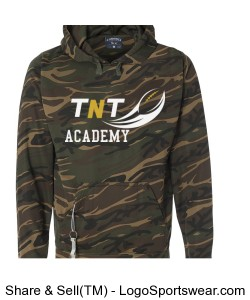 TNT Academy Mens Tailgate Poly Hooded Fleece Design Zoom