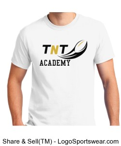 TNT Academy Adult Cotton White T-Shirt Design Zoom
