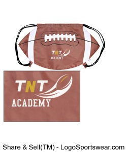 TNT Academy Football Drawstring Backpack Design Zoom