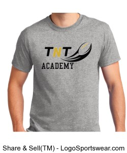 TNT Academy Adult Cotton Sport Grey T-Shirt Design Zoom