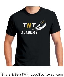 TNT Academy Adult Cotton Black T-Shirt Design Zoom